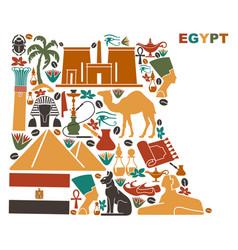 map egypt made national symbols vector image
