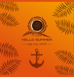 Marine design hello summer vector