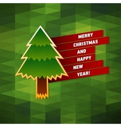 Merry Christmas Greeting Card Creative Holiday vector image