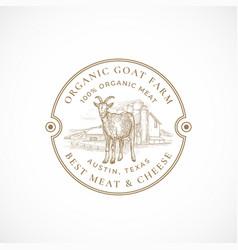Milk and cheese farm framed retro badge or logo vector