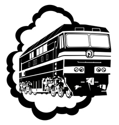 Modern locomotive vector image