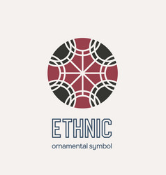 Mosaic ethnic emblem vector