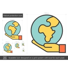 Nature protection line icon vector