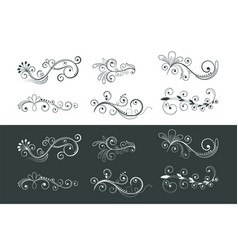 Ornamental floral decoration swirl pattern vector