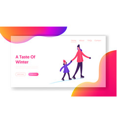 outdoor skating activity website landing page vector image