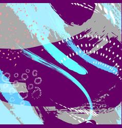 painted blue grunge stripes pattern violet labels vector image