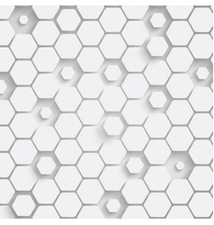 paper hexagon background with drop shadows vector image