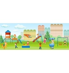Playground Colored Concept vector image