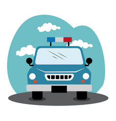 Police patrol isolated icon vector