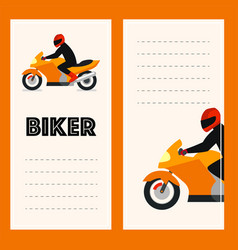 postcards from the moto rider vector image