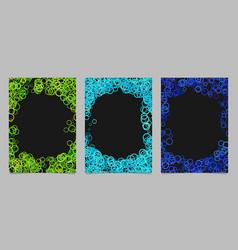 random circle background round brochure border vector image