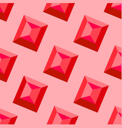 ruby seamless pattern decorative vector image