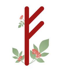 runa fehu ancient norse runa runic alphabet vector image