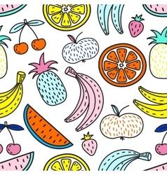 Seamless pattern fruits summer mood vector