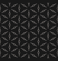 seamless pattern rhombuses triangular grid vector image