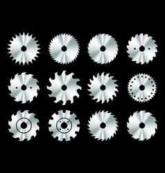 set different circular saw blades vector image