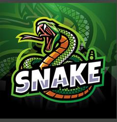snake esport mascot logo design vector image