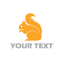 Squirrel logo template design vector
