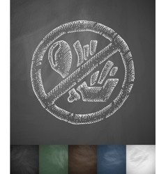 Stop fast food icon Hand drawn vector