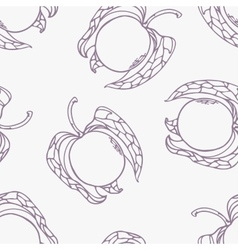 Stylized seamless pattern with outline style vector image