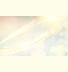 Swirl golden rays on blue sky background vector