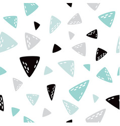 triangle seamless pattern creative texture vector image