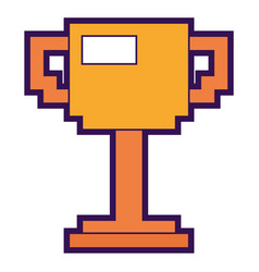 Trophy pixelated game award winner vector