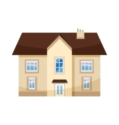 Two storey house icon cartoon style vector