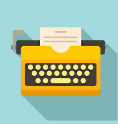 Typewriter icon flat style vector