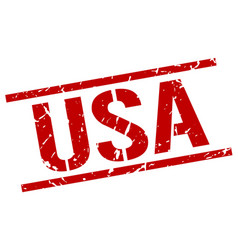 Usa red square stamp vector