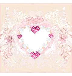 valentine vintage heart vector image