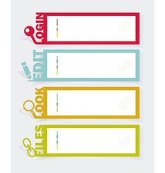 web panel set infographics number options template vector image