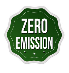 zero emission label or sticker vector image