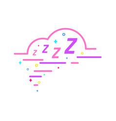 zzz sleeping bubble vector image
