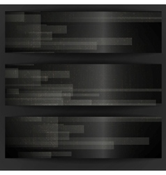 Abstract Black Rectangle Shapes Banner vector image