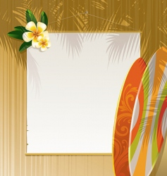 floral surfboards vector image vector image
