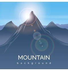 Mountain landscape background with sunbeam vector
