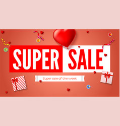sales poster with text design and holiday gifts vector image vector image