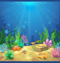Underwater landscape The ocean and the undersea vector image vector image