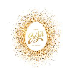 easter symbol on glitter background vector image vector image