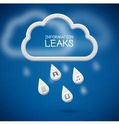 Information Leaks vector image vector image