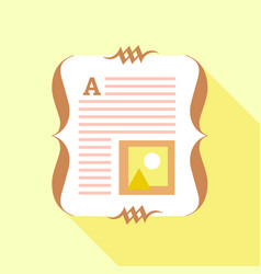 paper of book icon flat style vector image
