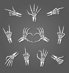 skeleton hand signs vector image vector image