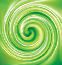 spiral liquid surface light green color vector image vector image