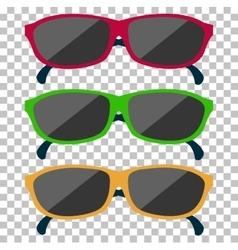 Classic Glasses Icon Sunglasses vector image