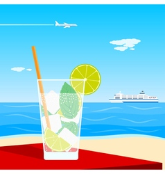 coctail on beach vector image