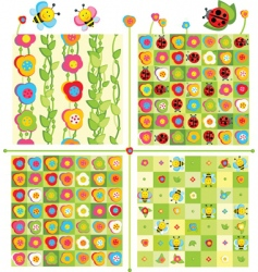cute pattern vector image