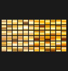 digital design golden gradient icons vector image vector image