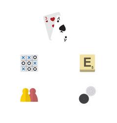 flat icon entertainment set of mahjong people x vector image