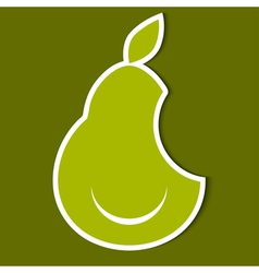 Humorous image of pear eps10 vector image vector image